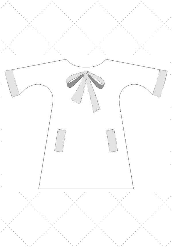 robe trapèze loridgina